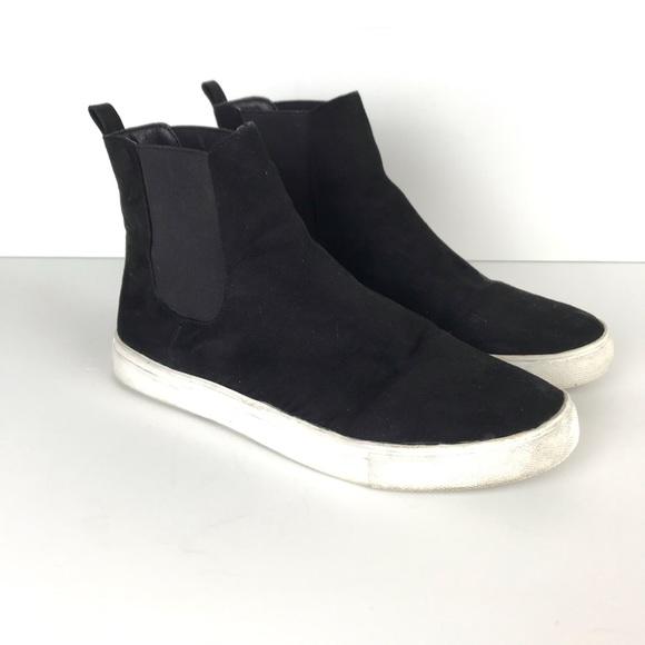 6793654ddf6 Steve Madden Dain Black Pull On Sneaker Sz 10